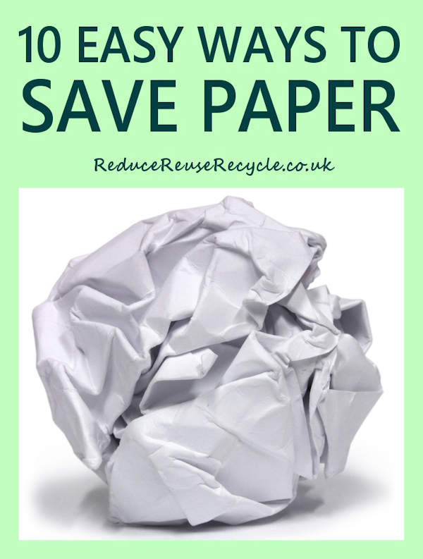10 Ways to Save Paper